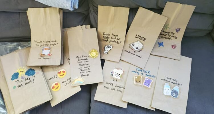 positive messages on lunch bags