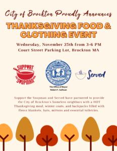 Thanksgiving in Brockton @ Brockton Parking Lot