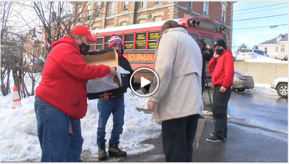 Support the Soupman Bangor Maine Handing out Boots to Homeless