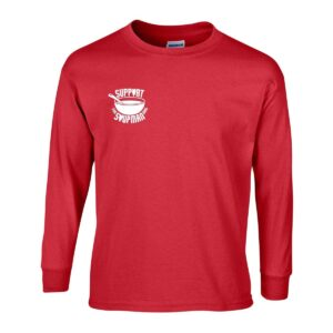 Mens Long Sleeve T-Shirt G240 Red Front