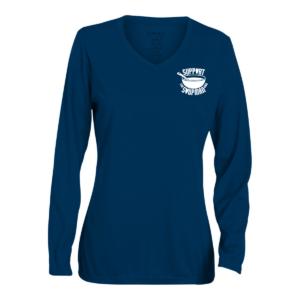 Women V-Neck Long Sleeve Shirt